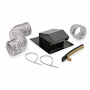 Roof Vent Kit,Flexible Duct,8 ft. L