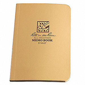 All Weather Memo Book,Univ,3-1/2 x 5 in.