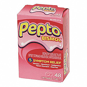 Pepto-Bismol,Chewable Tablet,262mg,PK48