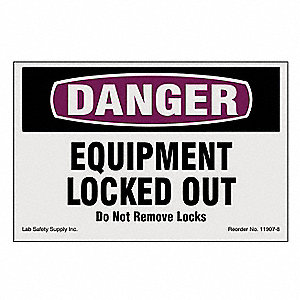 Lockout/Tagout Magnet Sign,4 In.H,6 In.W