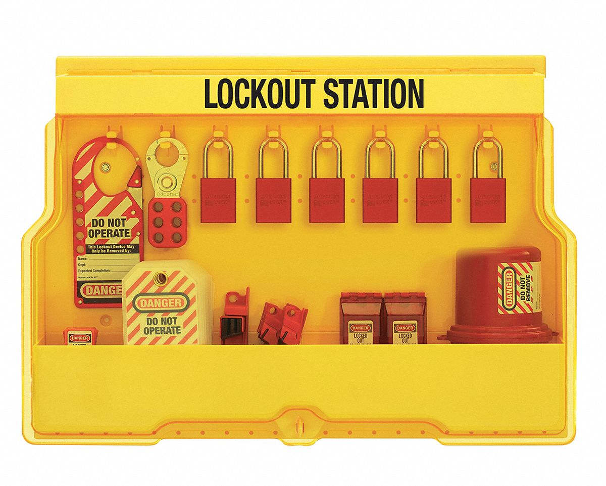 Master Lock Lockout Station Filled Electrical Lockout