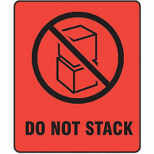 "Shipping Labels, Do Not Stack Legend, Paper, 3"" Width, 4"" Height"