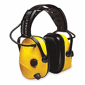 Electronic Ear Muff,23dB,Over-the-H,Yel