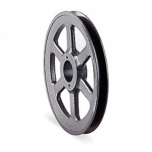 "V-Belt Pulley,SplitTpr,6.95""OD,Cast Iron"