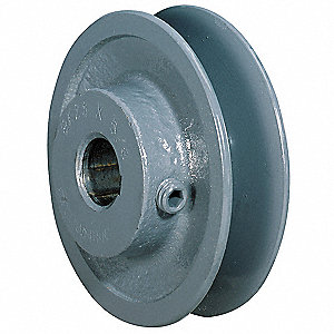 "V-Belt Pulley,1/2""Fixed,3.45""OD,Iron"