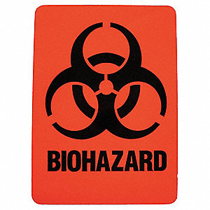 Hazardous Waste Label,2-7/8 In. H,PK25