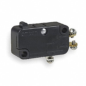 Snap Switch, SPDT Contact Form, 250VAC Voltage Rating, 10A Current Rating