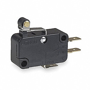 Snap Switch, SPDT Contact Form, 250VAC Voltage Rating, 15A Current Rating
