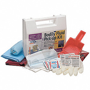 Biohazard Spill Kit,Carrying Case,White
