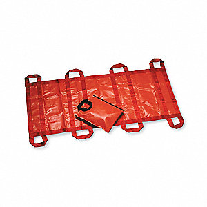 Soft Stretcher,Up to 2000 lb.,71 In.,Org