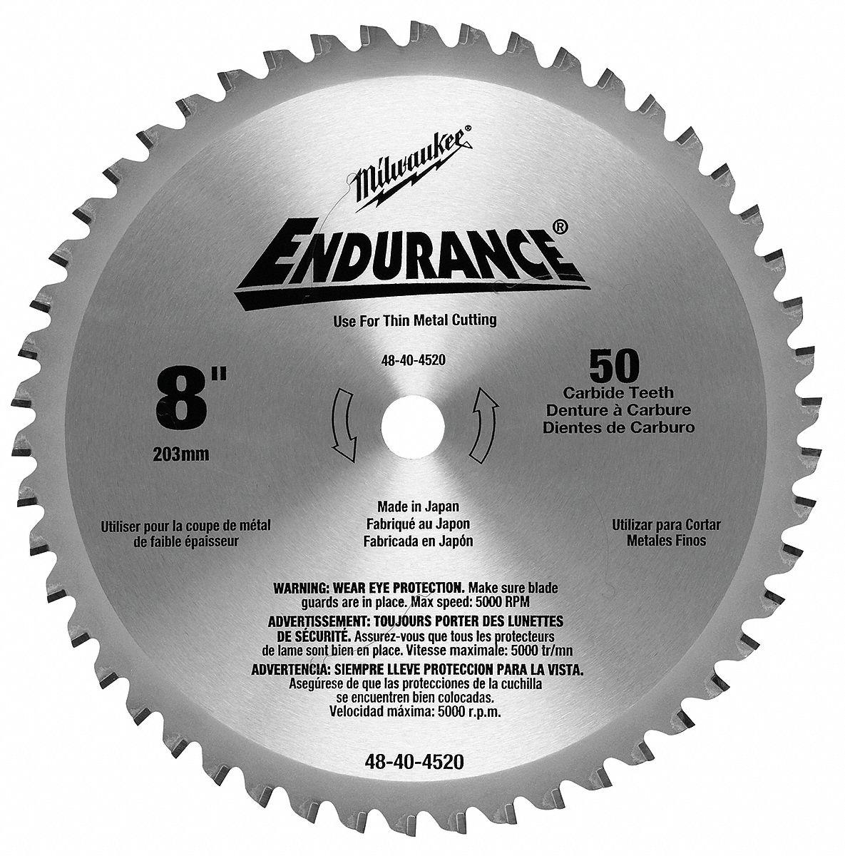 "Home Depot Special Order Catalog: MILWAUKEE 8"" Cerment Metal Cutting Circular Saw Blade"