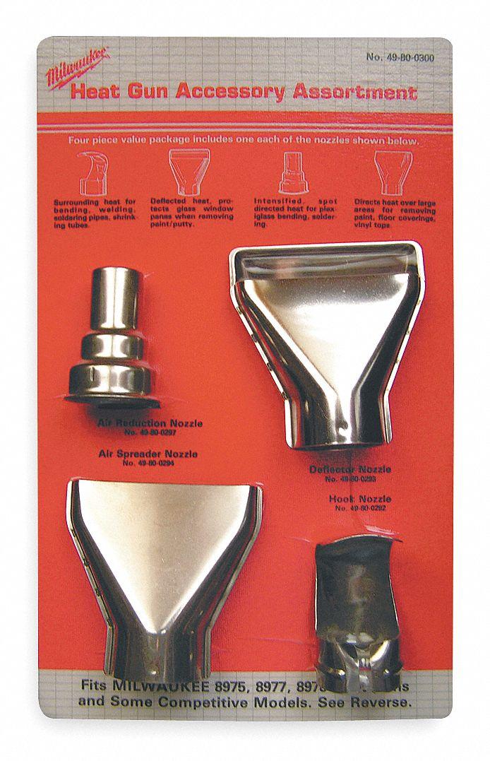 Milwaukee Heat Gun Accessory Kit 3y227 49 80 0300 Grainger
