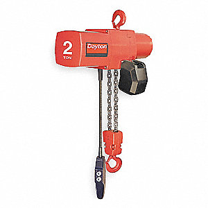 4000 lb. Capacity Electric Chain Hoist, H4 Classification, 15 ft. Lift, 115/230 Voltage