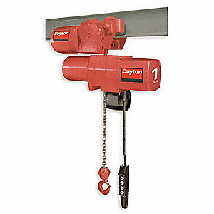 Dayton Electric Chain Hoist, 15 ft. Lift