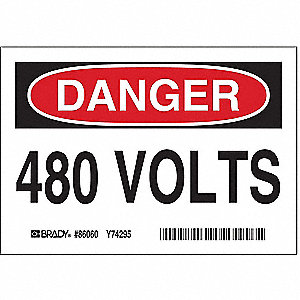 Equipment Label,3-1/2 In. H,PK5