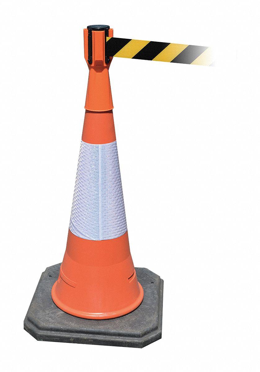 Tensabarrier Retractable Barrier Tape Orange 156 Quot X 3 Quot X