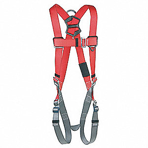 Full Body Harness,M/L,420 lb.,Red/Gray