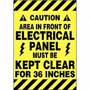 Floor Sign, Black/Yellow, 14 In. x 20 In