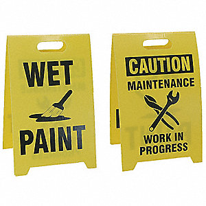 Floor Safety Sign, Wet Paint, Eng