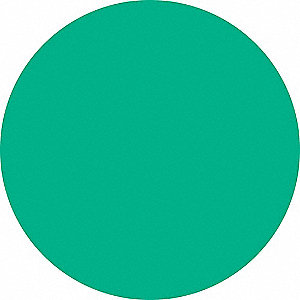 "Green Dot Label, Self-Adhesive Polyester, Height: 3/4"" x Width: 3/4"", 300 PK"