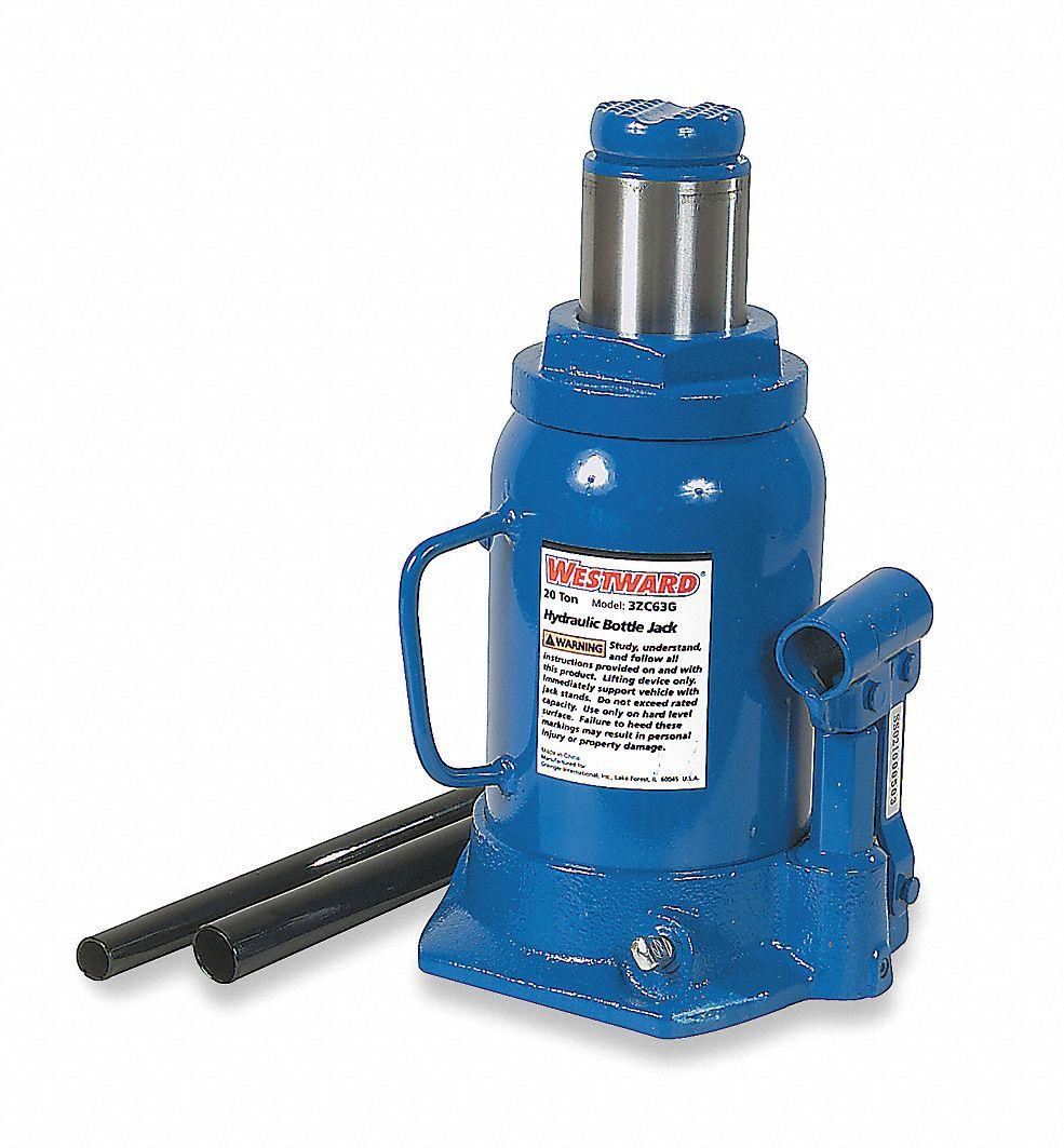 Westward 6 1 4 Quot X 5 7 8 Quot Side Pump Bottle Jack With 20