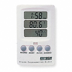 Clock Digital Hygrometer,14 to 140 F