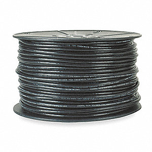 Coaxial Cable, 1000 ft. Length, 20 AWG Conductor Size, Black, PVC Jacket Material