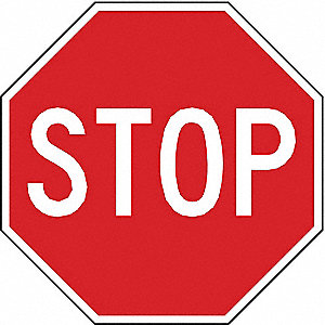 "Text Stop, High Intensity Prismatic Aluminum Traffic Sign, Height 36"", Width 36"""