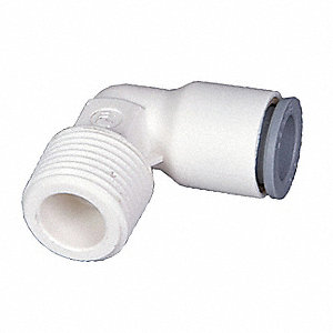 Plastic Fixed Elbow, 90°, Nylon Body Material, Tube Connection Type