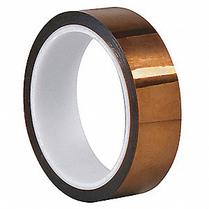 "Amber Dupont Kapton Polyimide Film Tape, 1"" Width, 100 ft. Length, 1 mil Thickness"