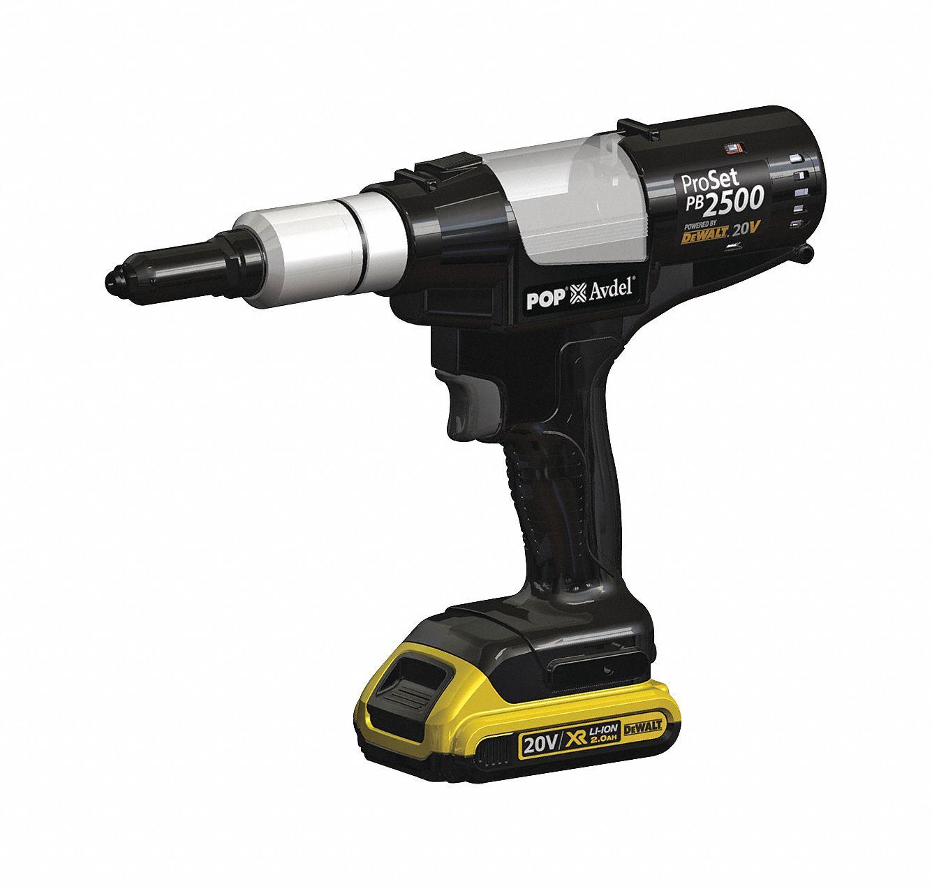 Pop Avdel Cordless Rivet Tool Kit 40g468 Pb2500 Na