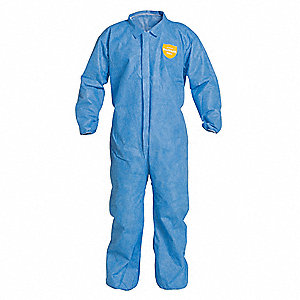 Collared Disp. Coverall,Blue,3XL,PK25