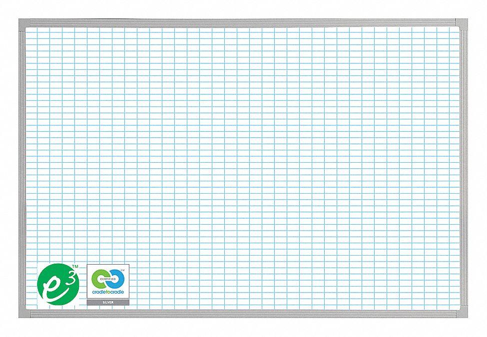 Magna Visual Gloss Finish Porcelain Dry Erase Grid Board