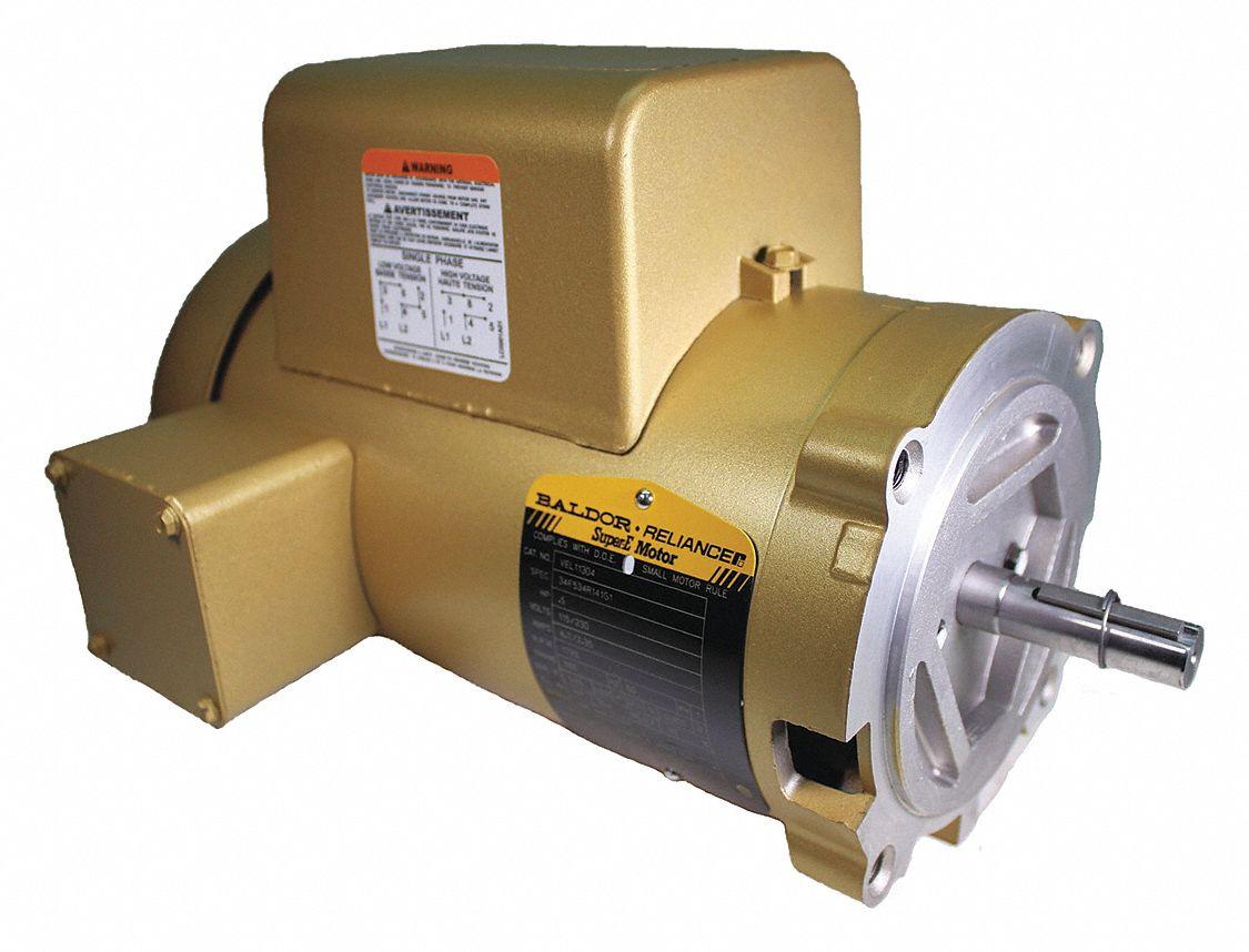 Baldor Electric Motor 1 2 Hp 1 Speed 8 4 4 2 Full Load