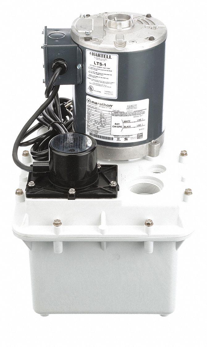 Hartell 1 3 Hp Laundry Tray Sink Pump System 5 6 Amps