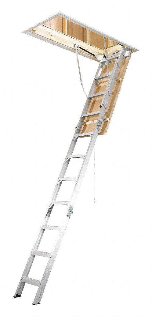 Werner Aluminum Attic Ladder 7 Ft 11 Quot To 10 Ft 3