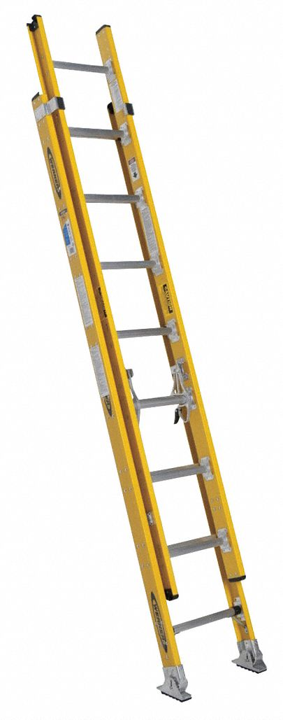 Howard Aluminum Extension Ladder : Werner extension ladder fiberglass ft iaa d