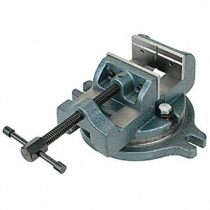Milling Machine Vise,w/Base,6 in,Swivel