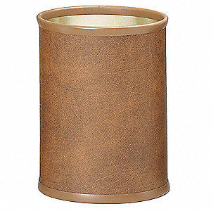 Waste Basket,13 qt.,Walnut,PK4
