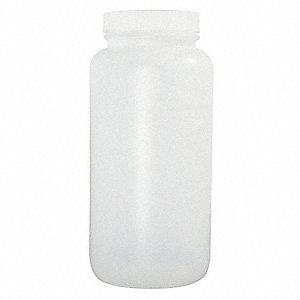950mL Bottle, Wide Mouth, High Density Polyethylene, PK 72