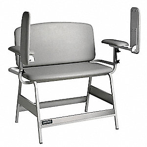 "Bariatric Blood Draw Chair, White, Seat Depth 20"", Seat Width 22"", Seat Height 18"""