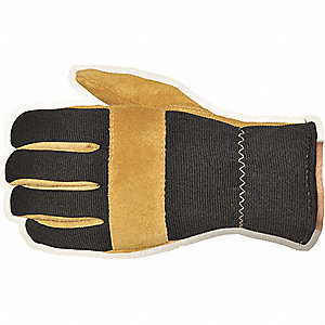 Leather Palm Gloves,Cowhide,Suede,M,PR