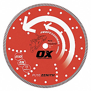 "6"" Wet/Dry Diamond Saw Blade, Continuous Rim Type"