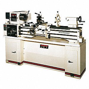 Jet Lathe w/Stand,2HP,1P,40 Center In