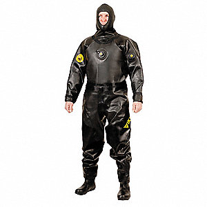 Light Weight Hazmat Dry Suit,Size S