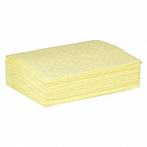 Absorbent Pad,Chemical, 7.5 gal.,PK50