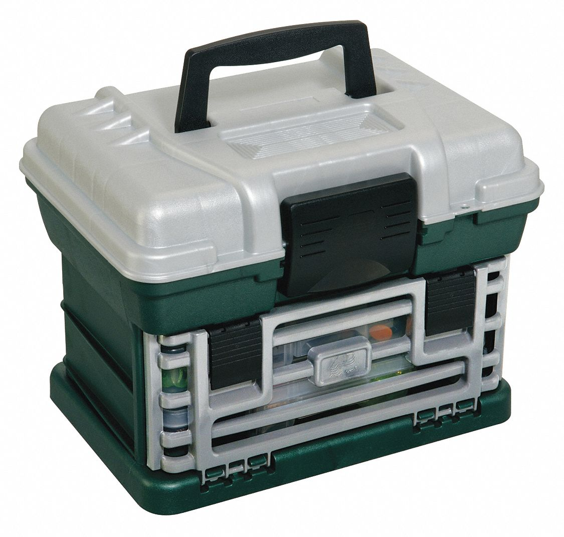 Plano Molding Small Parts Storage System Green Silver 9