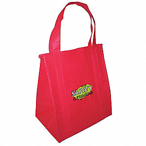 Insulated Tote Bag,Red,13 x 15 in