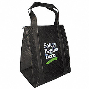 Insulated Tote Bag,Black,13 x 15 in