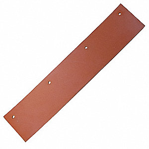 "12-1/4"" Red Silicone, V-Shaped Squeegee Blade, 1 EA"